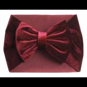 Other - New Boutique velvet turban hair bow band BIG baby